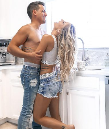 Jockey Mens Underwear Mens Distressed Jeans Couple photoshoot Couples Kitchen Pic-1