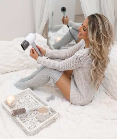 Cozy Cable Knit Thigh High Socks White Boho Room Cozy White room Dyson Hair dryer review -13