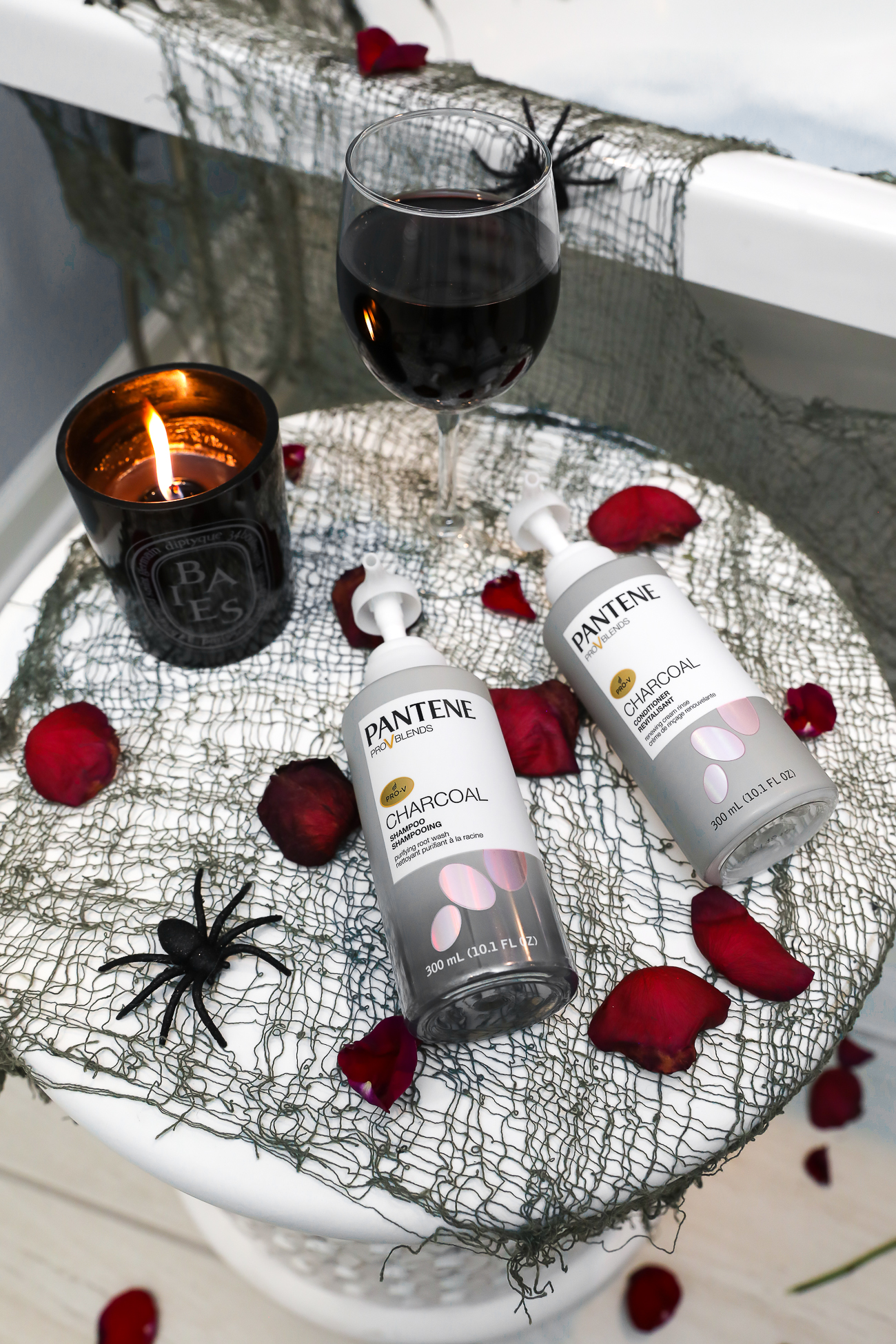 Pantene Charcoal Shampoo & Conditioner Bathtub Picture