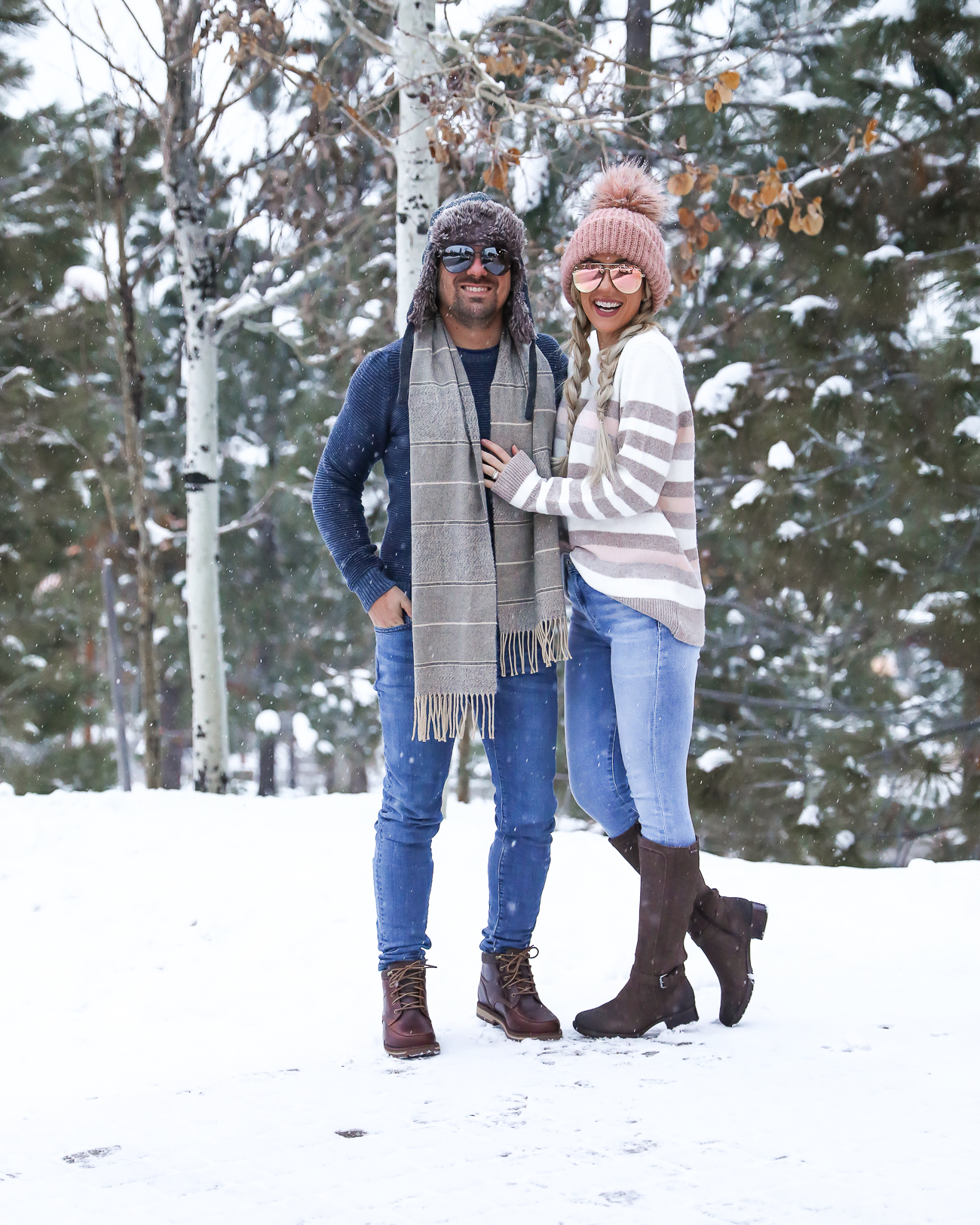 Zappos Rockport Christy Boots His & hers Couple winter outfit ideas Lake Tahoe NorthStar Resort Laura Beverlin -19