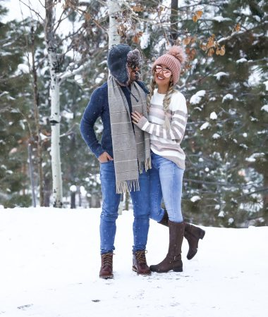 Zappos Rockport Christy Boots His & hers Couple winter outfit ideas Lake Tahoe NorthStar Resort Laura Beverlin -4