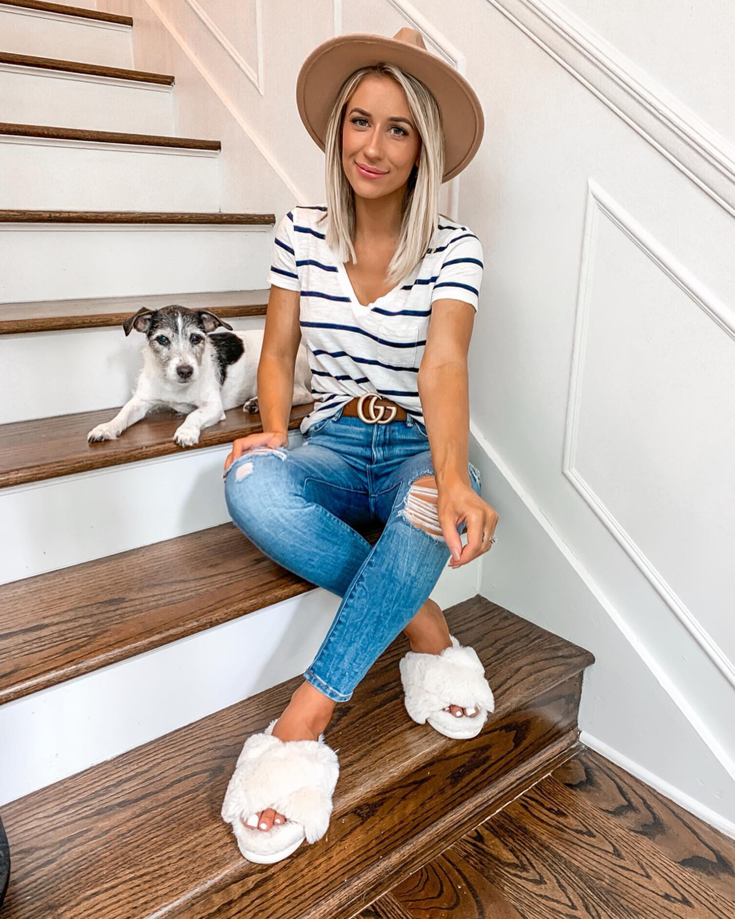 how to brighten under eyes comfy casual summer outfit laura beverlin nordstrom beauty trish mcevoy