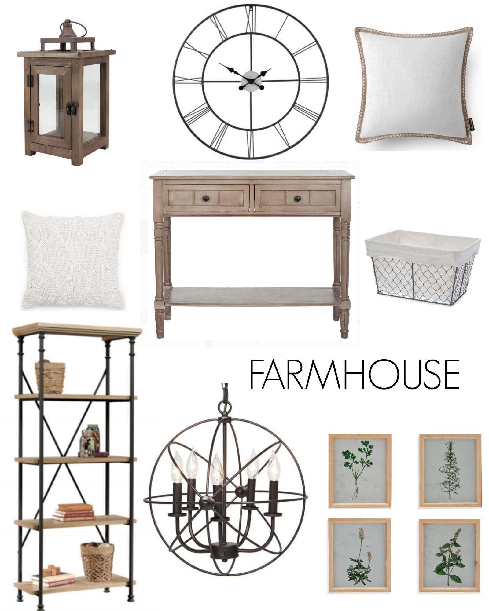 FARMHOUSE home decor inspo affordable walmart home decor Laura Beverlin house