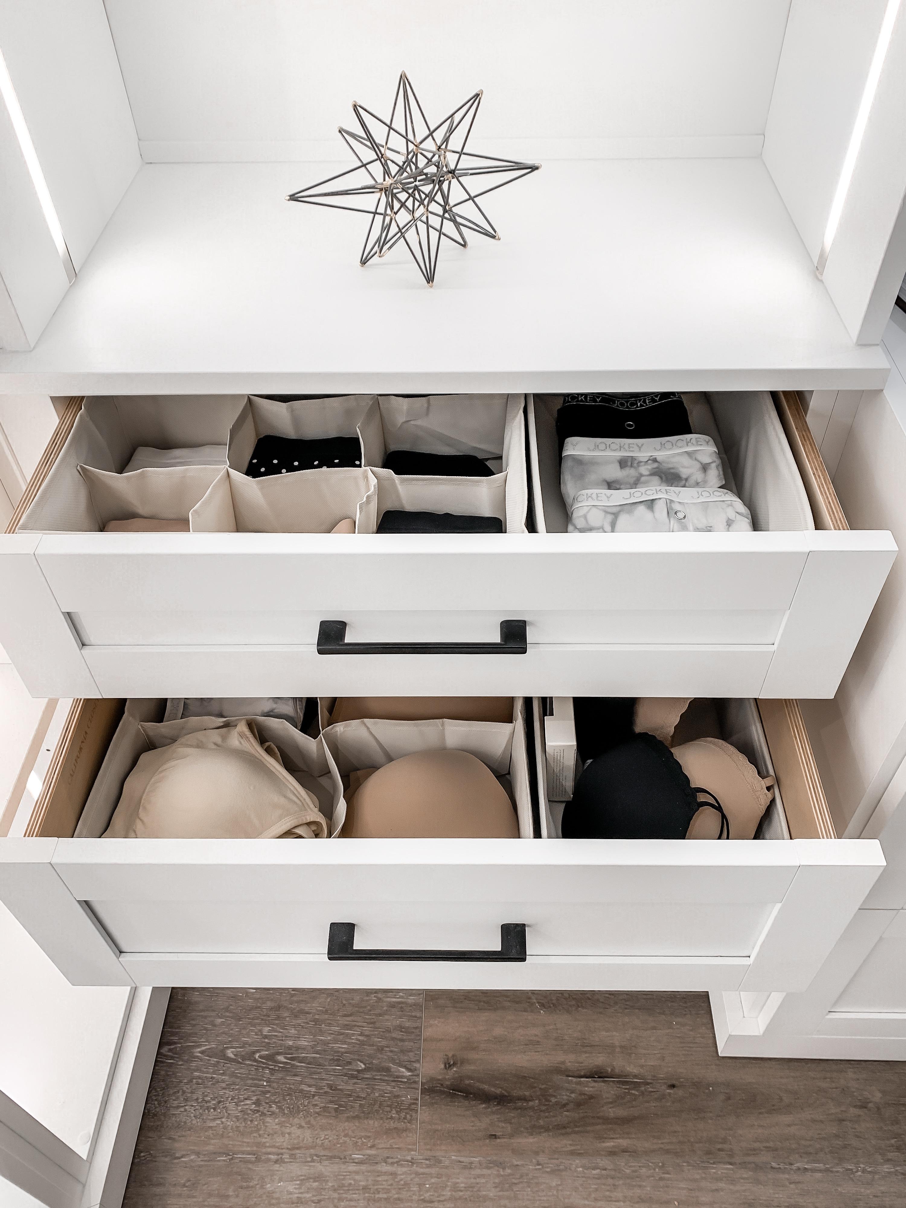 Closet organization drawer organizers Laura Beverlin Closet