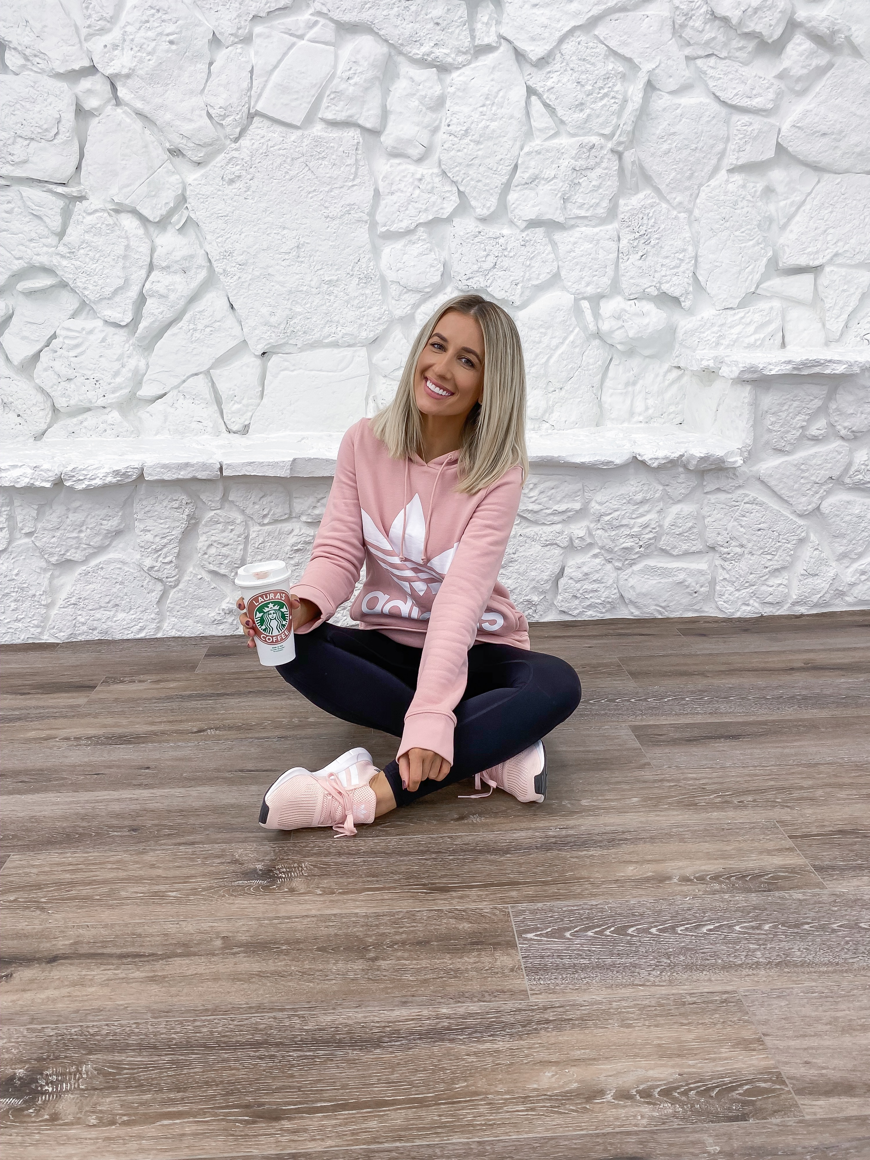 Laura Beverlin house pink adidas his and hers adidas outfit