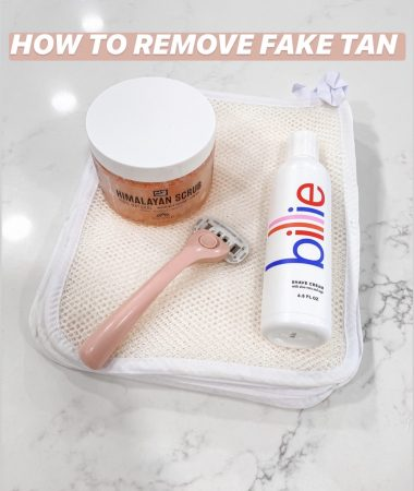 BILLIE RAZOR HOW TO REMOVE FAKE TAN