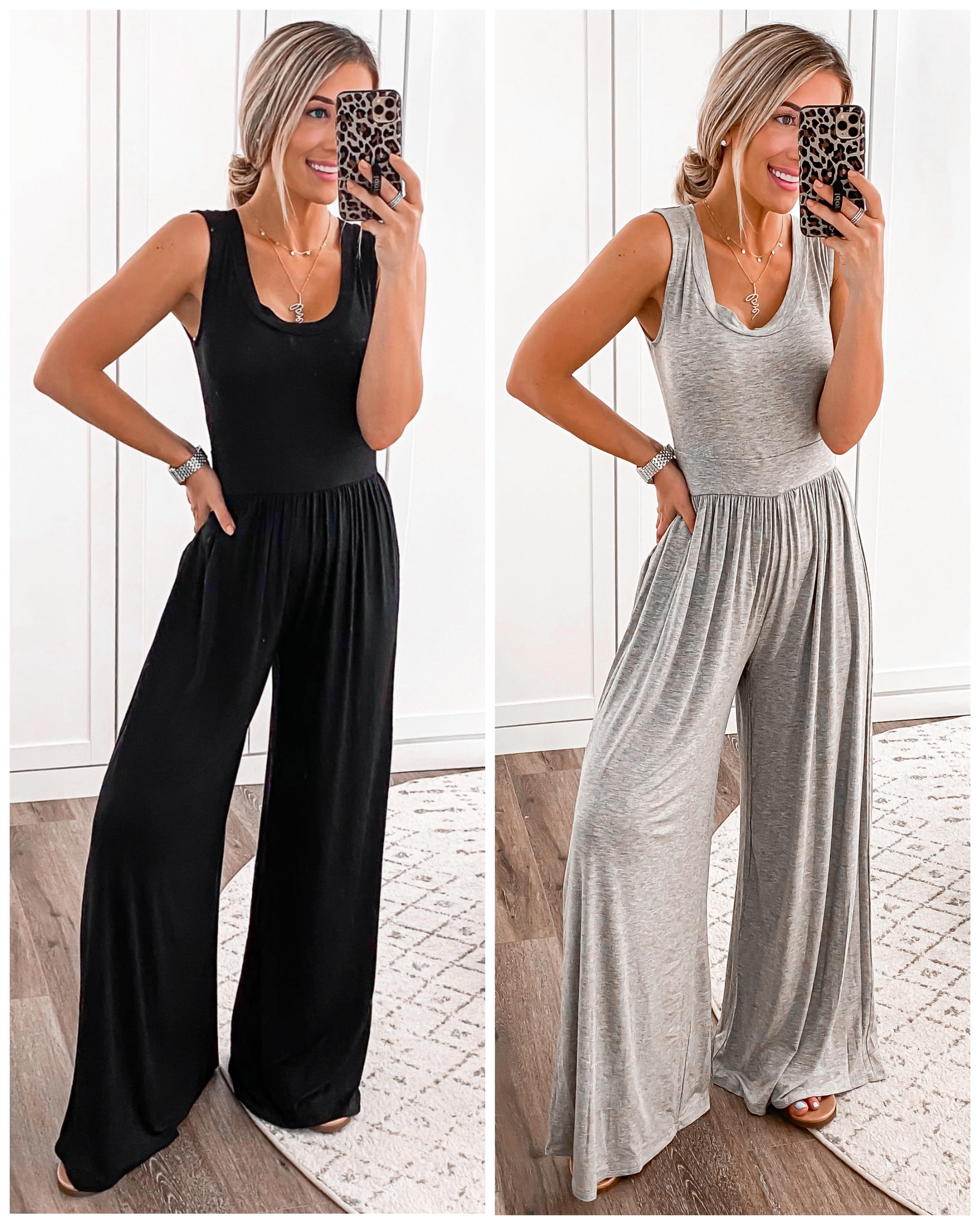 Nordstrom Rack Black Jumpsuit Wide Leg Gray Jumpsuit Laura Beverlin3
