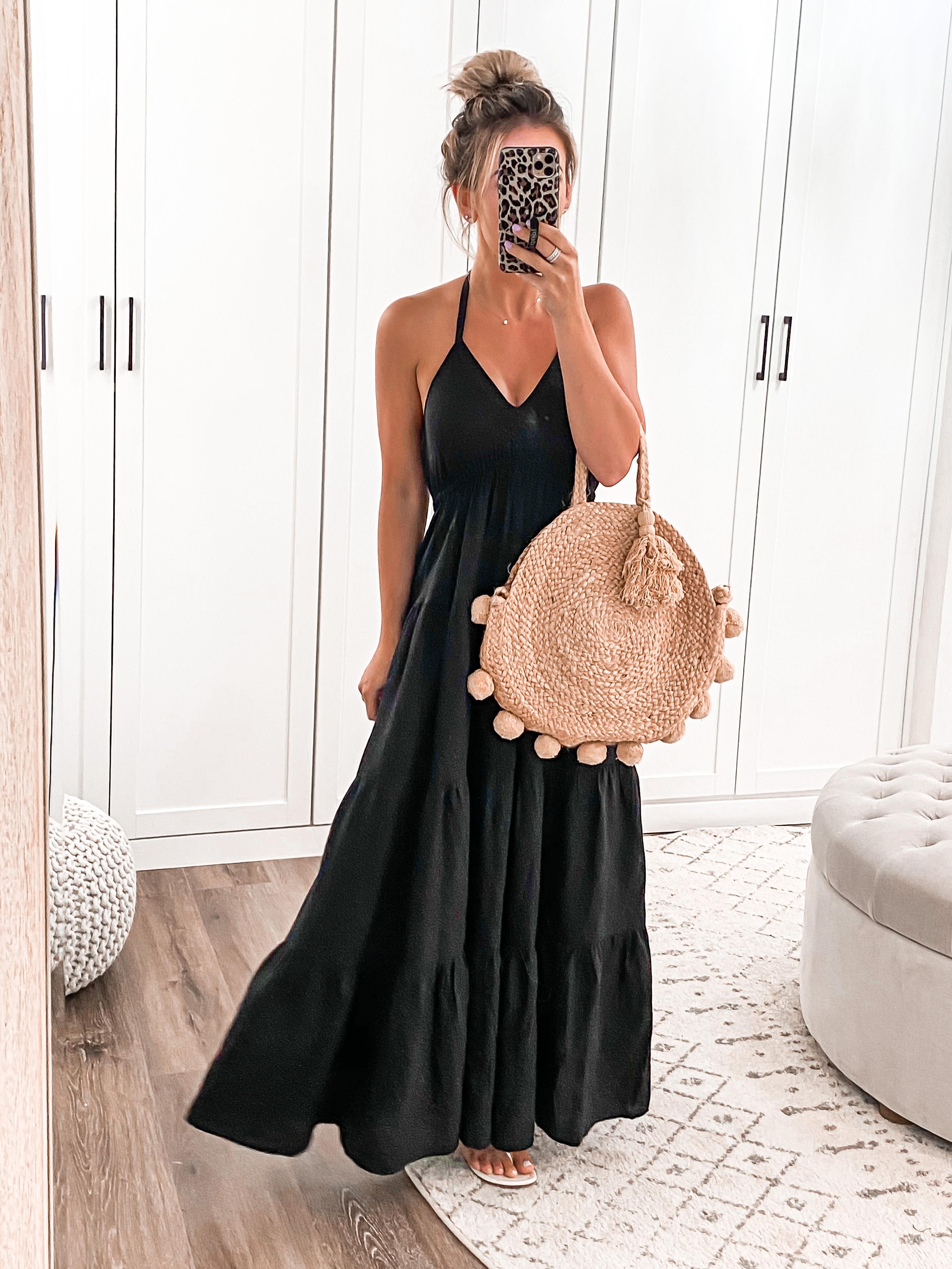 LAURA BEVERLIN BLACK SUMMER MAXI DRESS PETITE OUTFIT EXPRESS