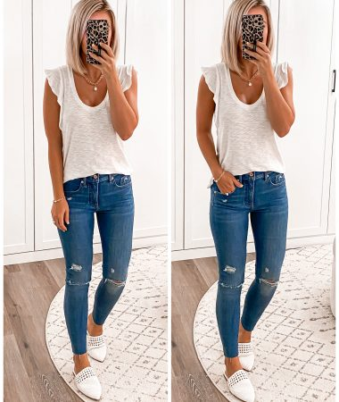 laura beverlin casual summer outfit EXPRESS 1