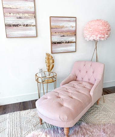 Laura Beverlin house Pink & gold Home Office 1