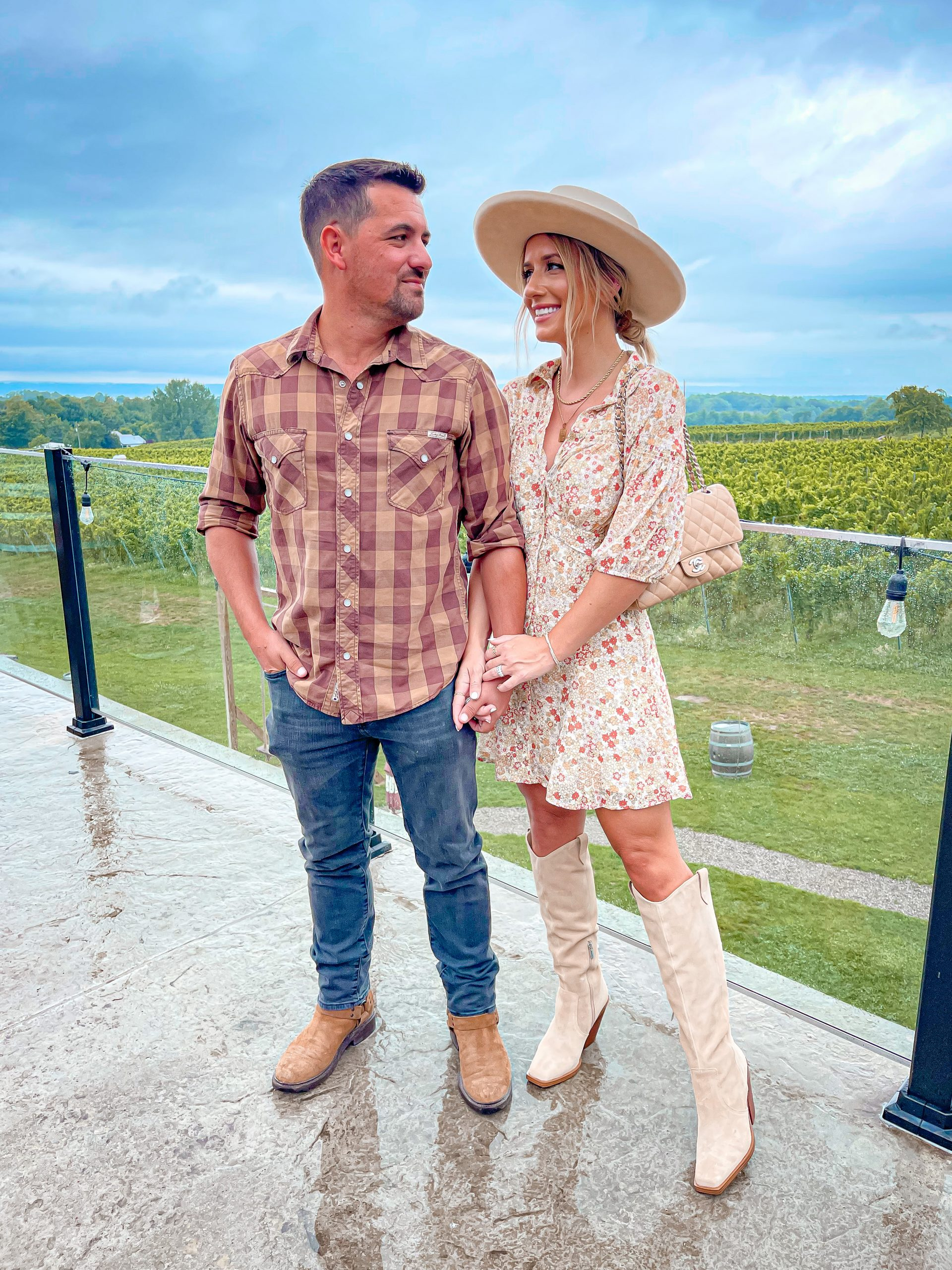 Laura & Marky Beverlin casual fall winery outfit vinyard free people nordstrom dress_6516